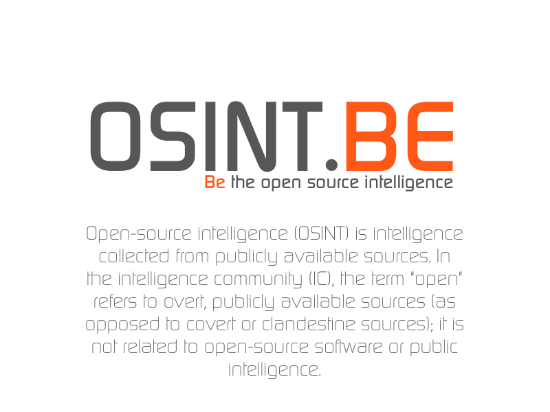 OSINT.BE | Be the open source intelligence